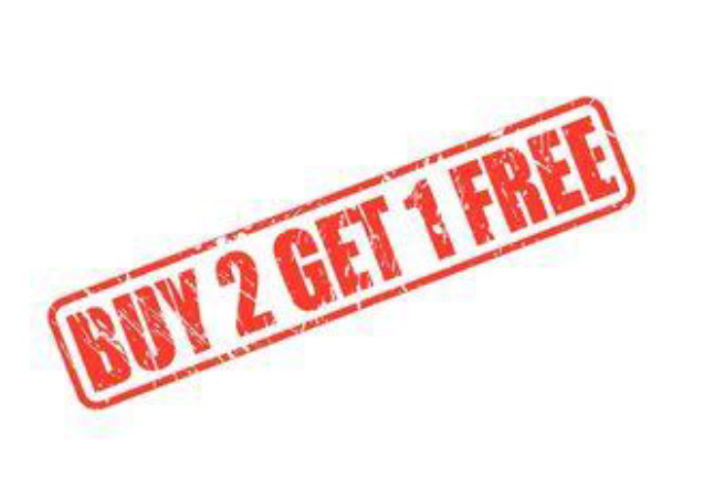 buy 2 get 1 free ad