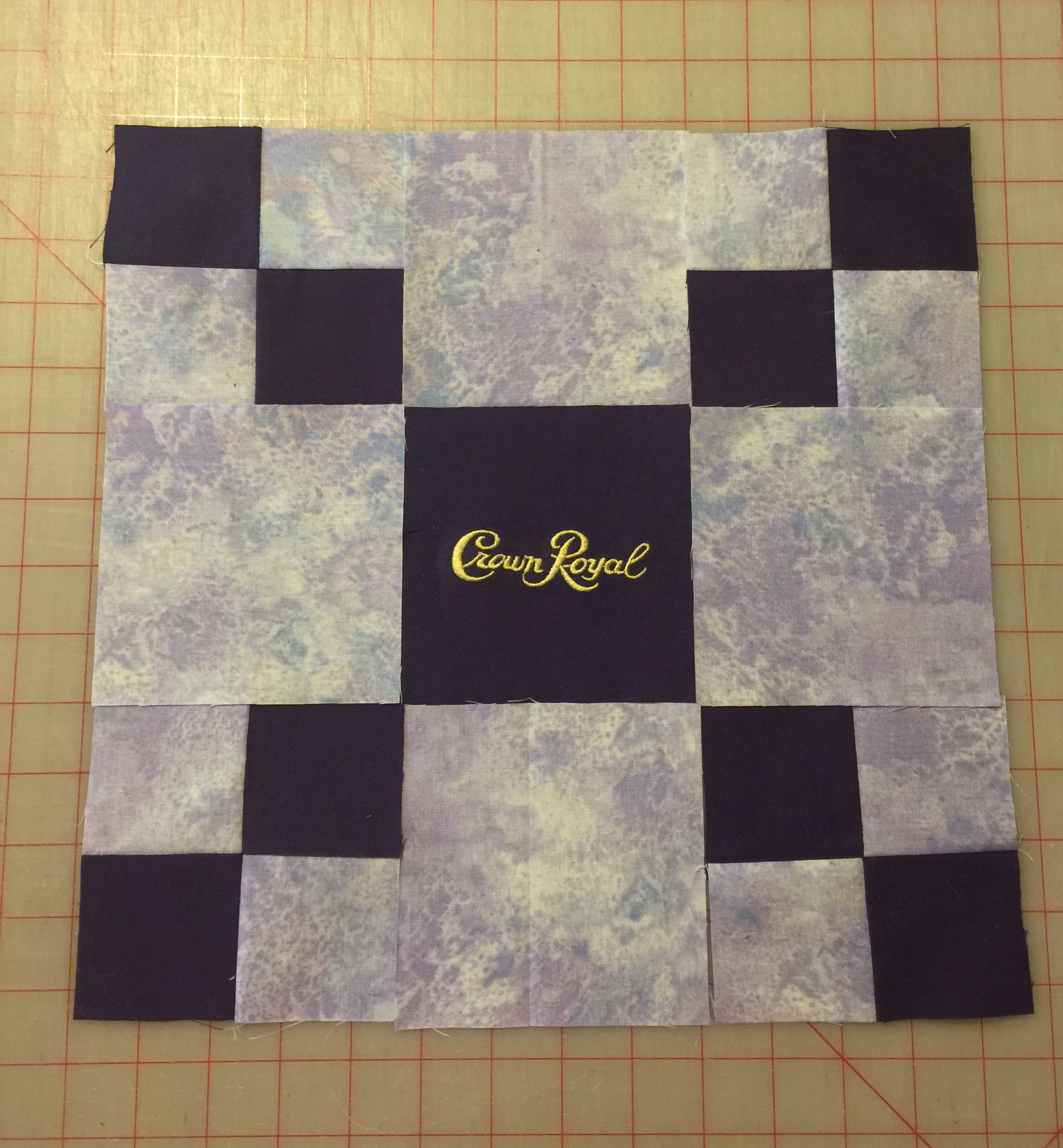 Design Wall 9 19 16 Crown Royal Block Always Quilts