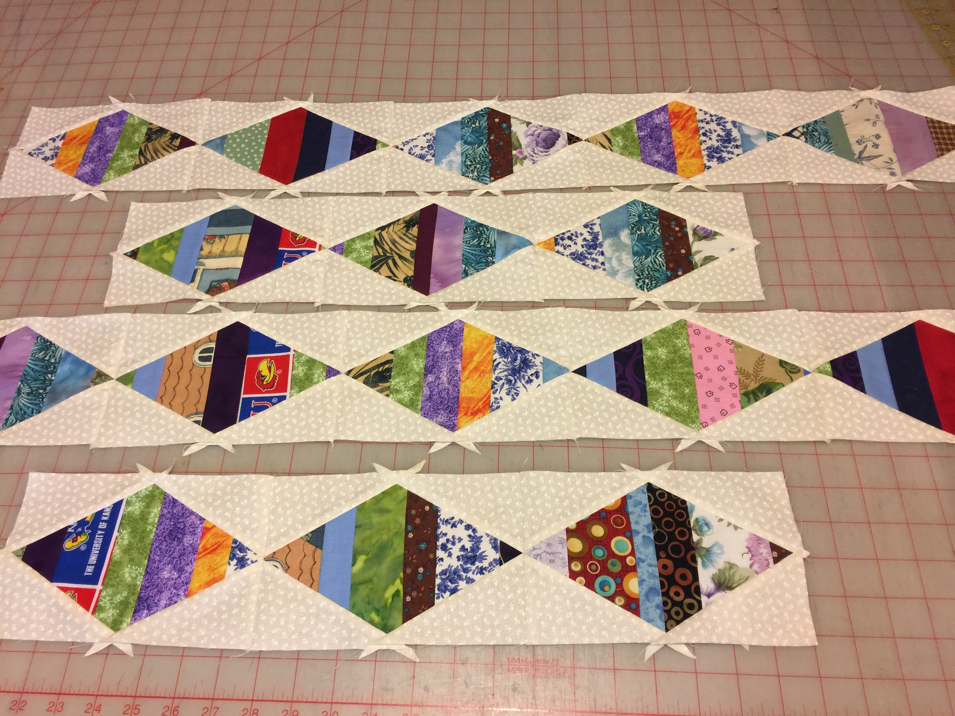 Design wall 10/2/17 string pieced border – Always Quilts : pieced quilt border ideas - Adamdwight.com